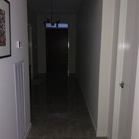 Dark hallway before photo